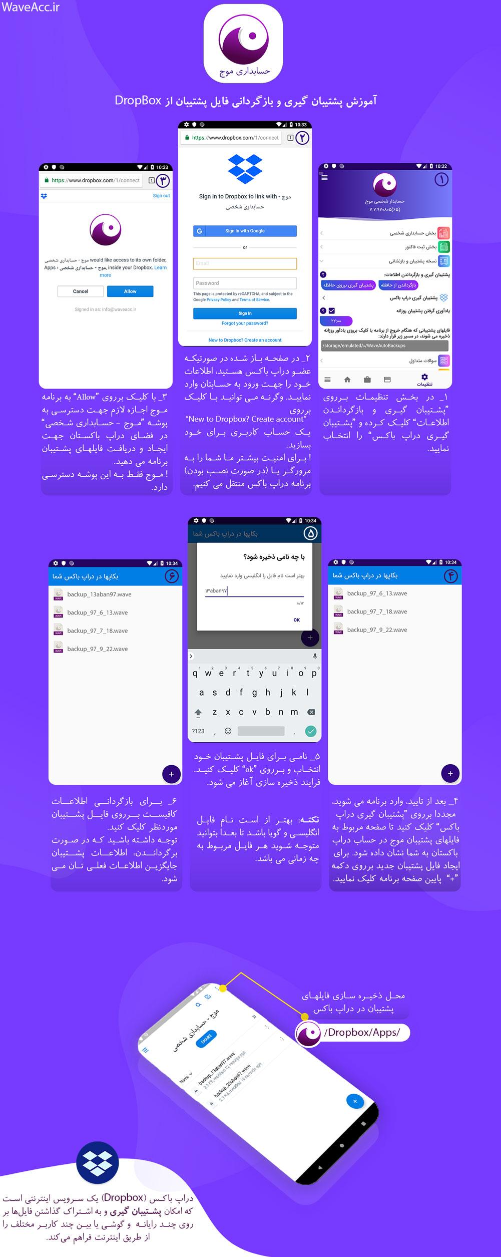 آموزش پشتیبان گیری و بازگردانی فایل پشتیبان از دراپ باکس